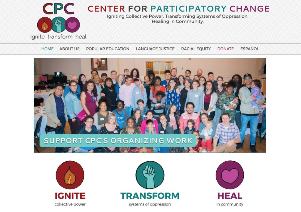 Custom website for nonprofit online curriculum