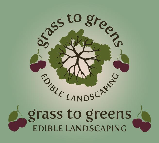 Grass to Greens edible landscaping logo design
