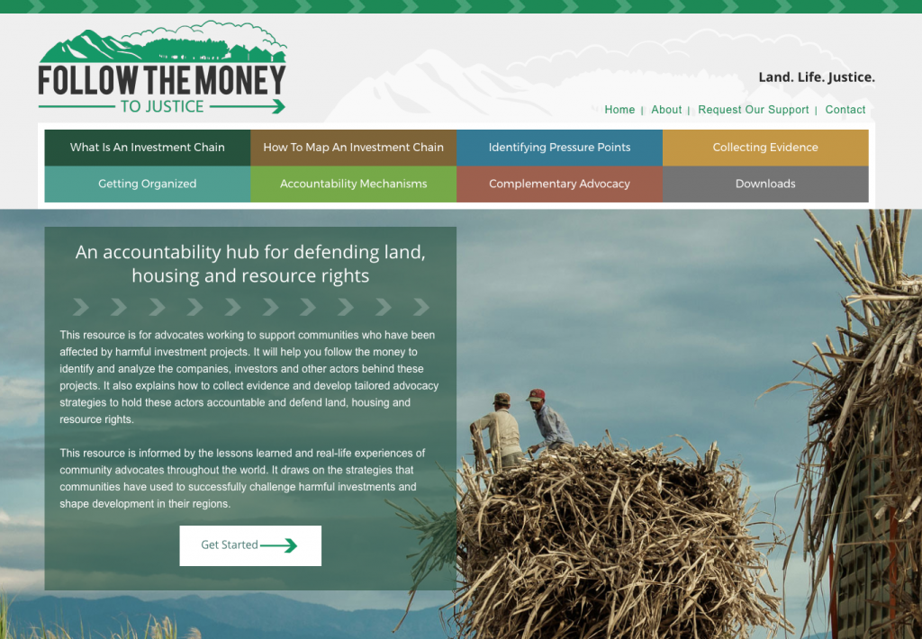 Website design and development for Follow the Money