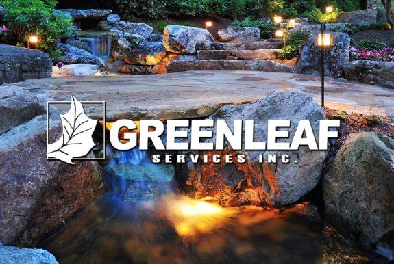 Custom website design for Greenleaf Services Landscaping company