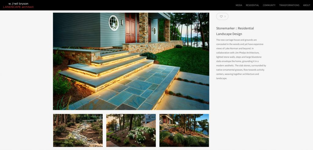 Wordpress website for landscape architect