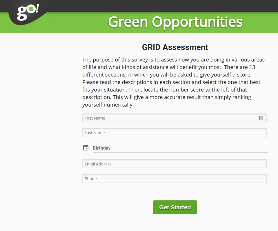 GRID: online community support portal